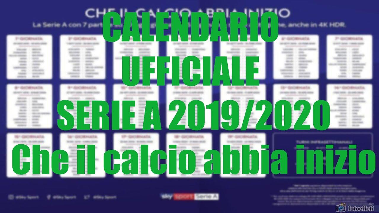 Como Calcio Calendario.Calendario Ufficiale Serie A 2019 2020 Che Il Calcio Abbia Inizio