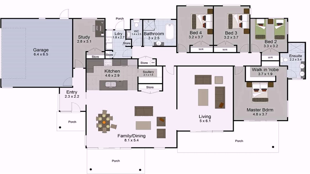 5 Bedroom 3 Bathroom House Plans Perth Gif Maker ...