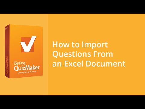How to Import Questions From an Excel Document