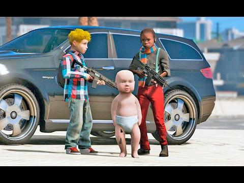 Michael, Trevor e Franklin Crianças | GTA 5 VIDA REAL