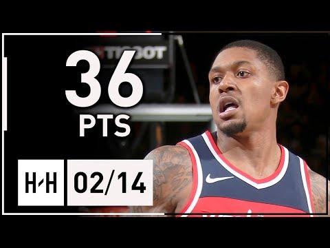 Bradley Beal All-STAR Full Highlights Wizards vs Knicks (2018.02.14) - 36 Points, 7 Ast, 5 Reb