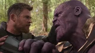 Avengers infinity war, Thor v:s Thanos scene in Reverse HD