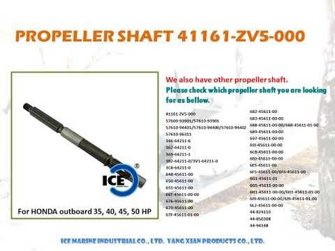 For HONDA Outboard Propeller Shaft 41161-ZV5-000