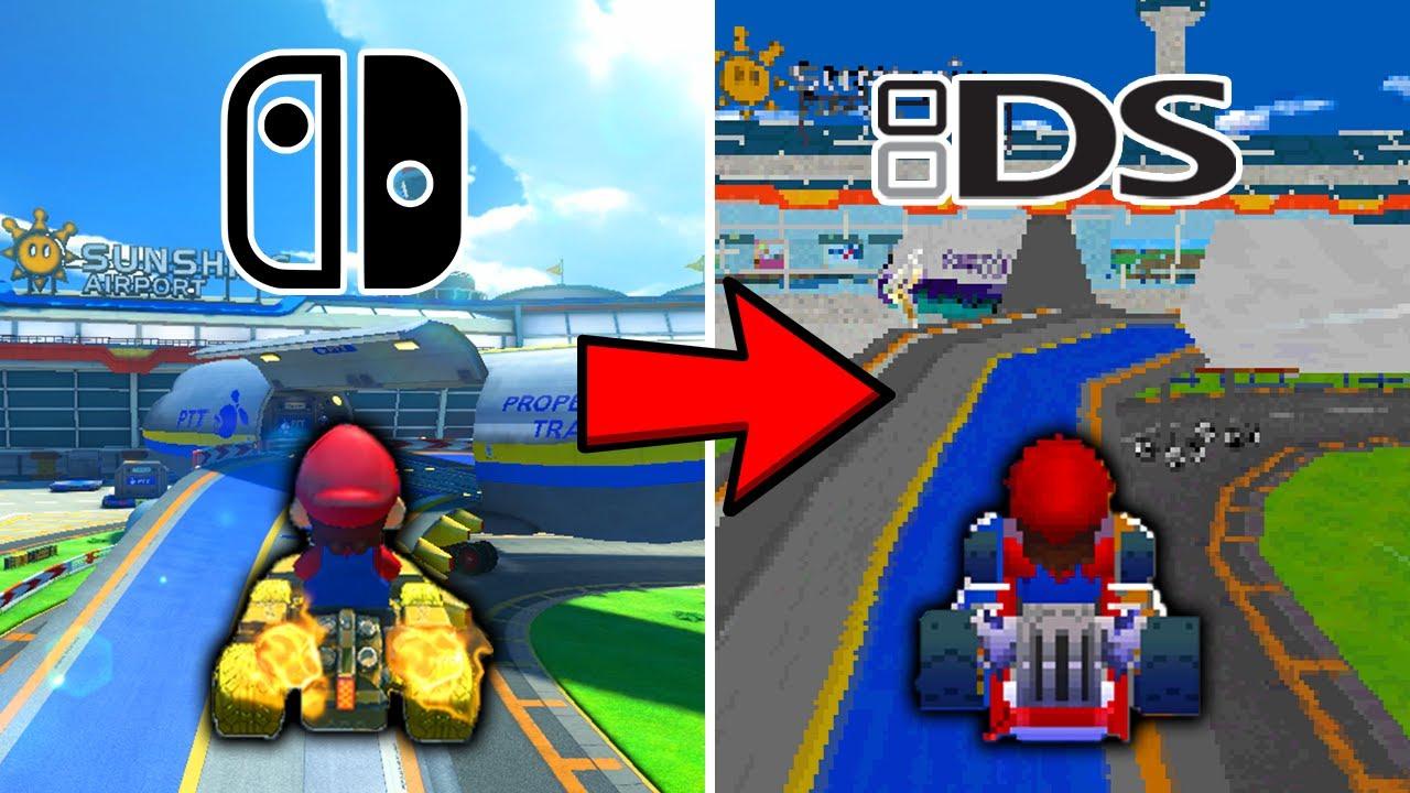 Mario Kart 8 Deluxe Tracks Recreated in Different Mario Kart Games!