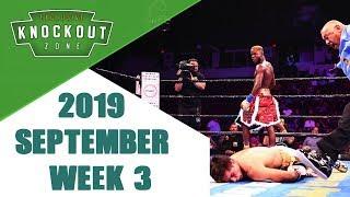 Boxing Knockouts September 2019 Week 3