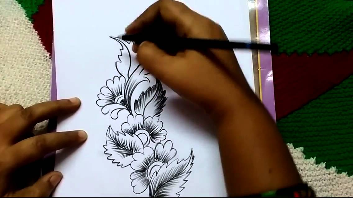 Free Hand Corner Design With Charcoal Pencil I By Premlata YouTube