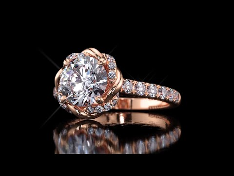 The rose gold ring HD video with black background YouTube