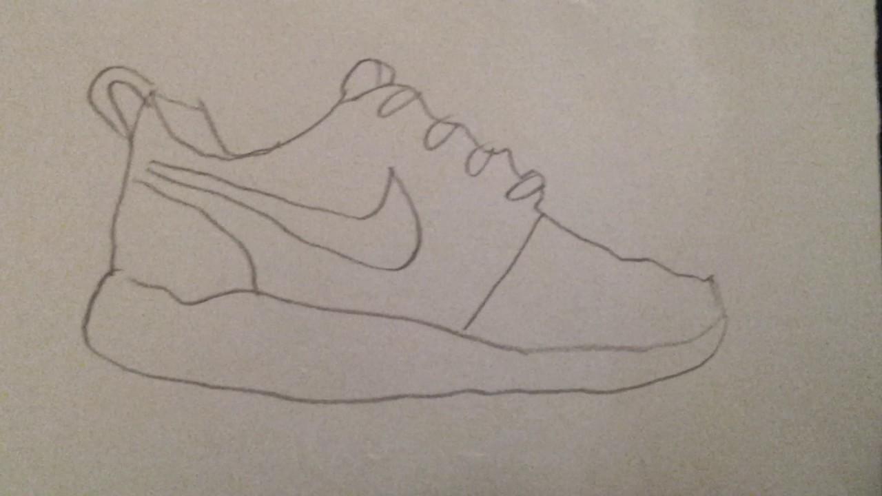nike shoes drawing. nike roche shoes drawing l