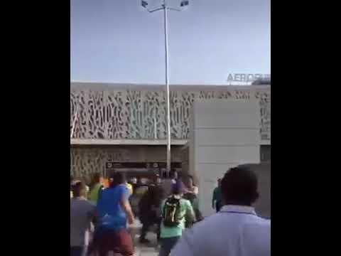 Disturbios en el aeropuerto de Santa Marta