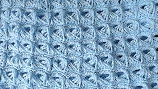 Repeat youtube video Crochet Colchita o Cobija Para Bebé
