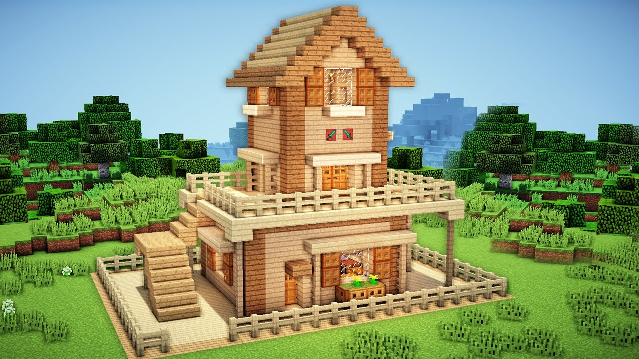 Minecraft starter house tutorial 2 how to build a house for Building a house where to start