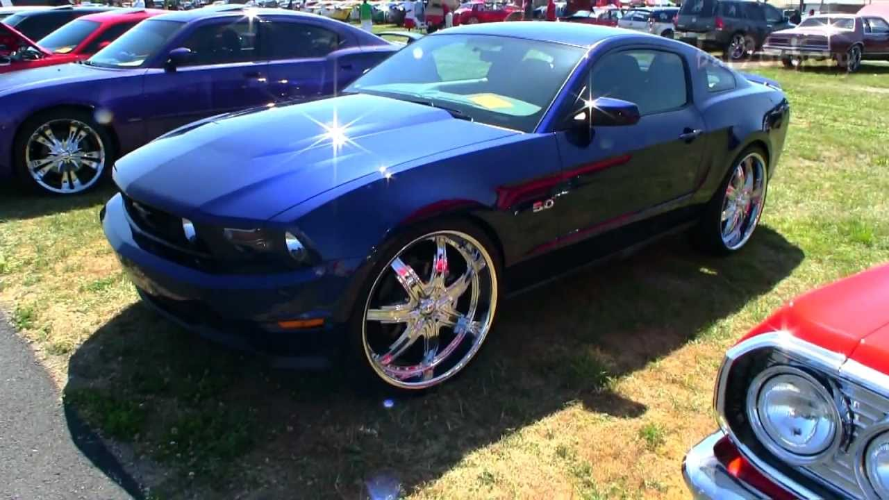 2012 Ford Mustang GT on 24's - 1080p HD - YouTube