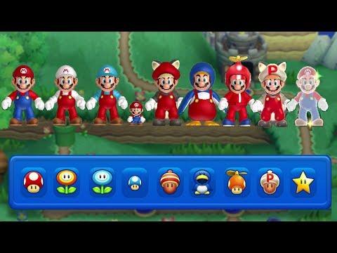 New Super Mario Bros. U - All Power-Ups (Gameplay Showcase)