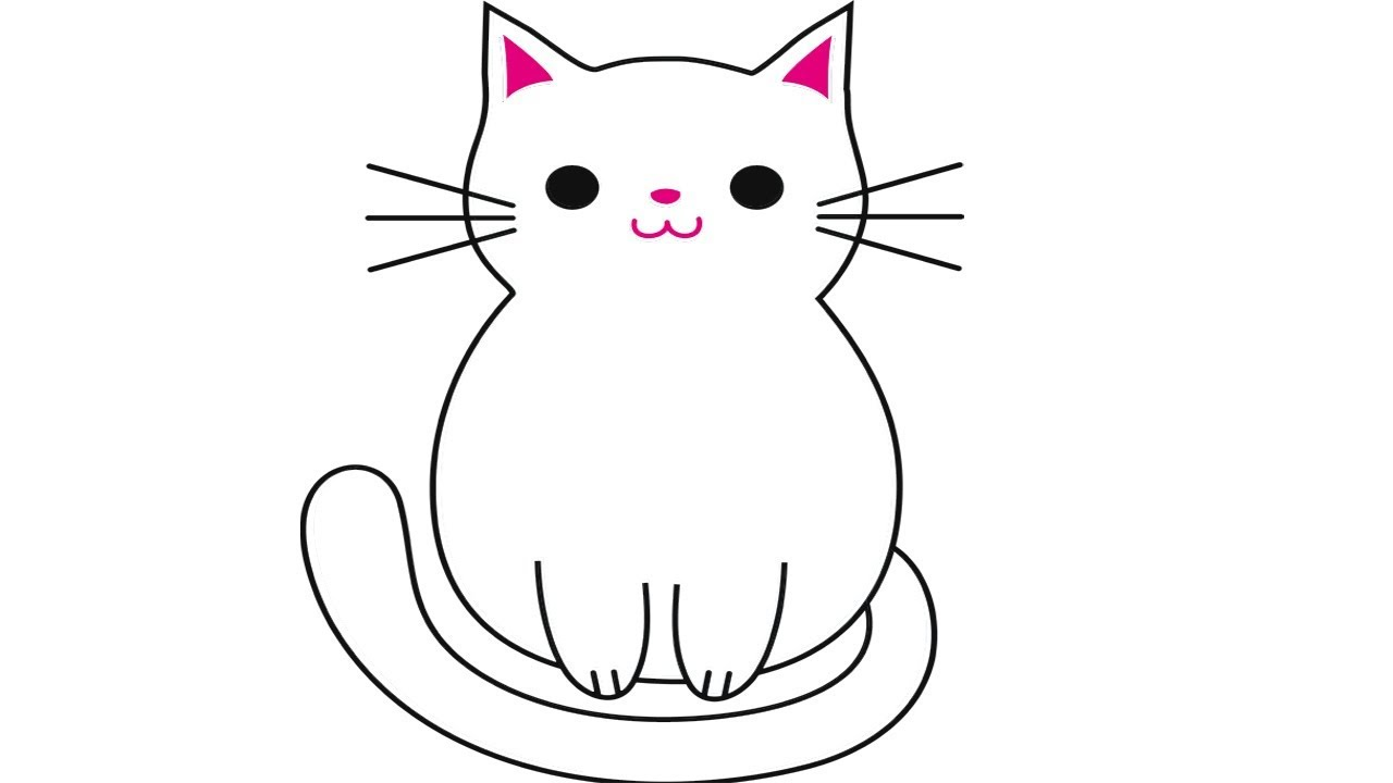 Coloring Pages-how to draw a cartoon cat step by step - ᴴᴰ ...