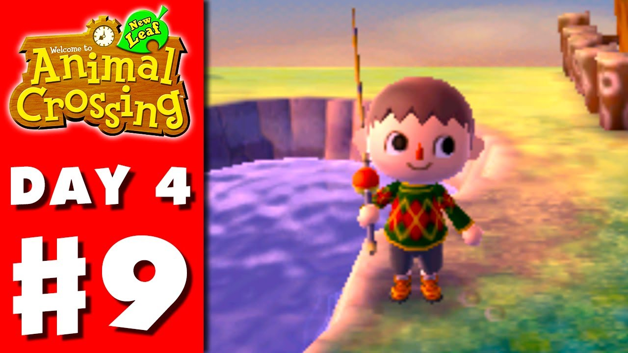 Animal Crossing New Leaf Part 9 Fishing Nintendo 3ds Gameplay Walkthrough Day 4 Youtube