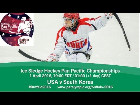USA v South Korea | Prelim | 2016 Ice Sledge Hockey Pan Pacific Championships, Buffalo