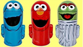 SESAME STREET Coin Bank Toy Surprises: ELMO, COOKIE MONSTER, OSCAR The Grouch TUYC