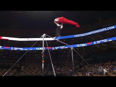 Kyle King - High Bar - 2018 U.S. Gymnastics Championships - Senior Men Day 1