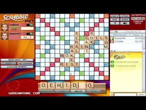 Scrabble - Pogo Games - Co-op With Yoshiller [1]