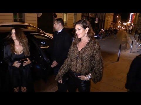EXCLUSIVE : Cindy Crawford and Jordan Barrett go to Jean Imbert restaurant in Paris