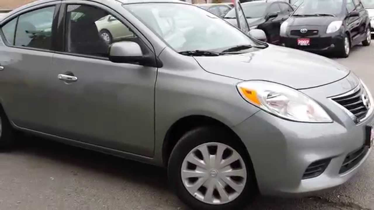 2014 Nissan Versa Sv Grey Youtube