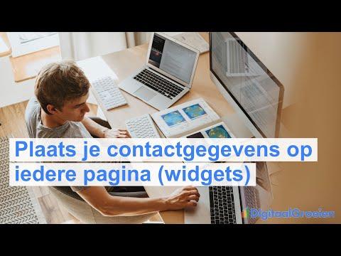 Contactgegevens plaatsen op ieder pagina van je website via widgets