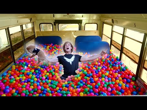 Thumbnail: 100,000 PLASTIC BALLS IN MY SCHOOL BUS! (driving)