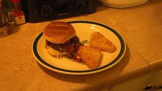 Carmelized Onion Cheese Burgers