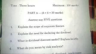 Ide Unom Corporate Finance Dec 2018 Question Paper