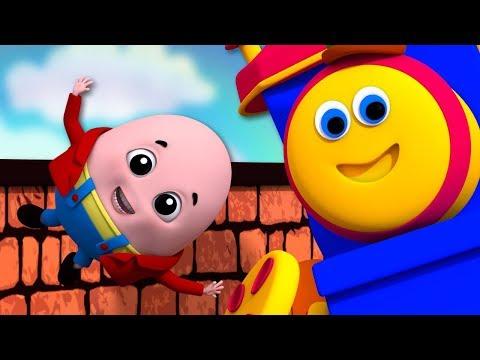Humpty Dumpty Sat On A Wall | Bob The Train | Nursery Rhymes For Kids