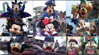 [動画] ディズニーランドのハロウィーンイベントで新しく始まったパレー...