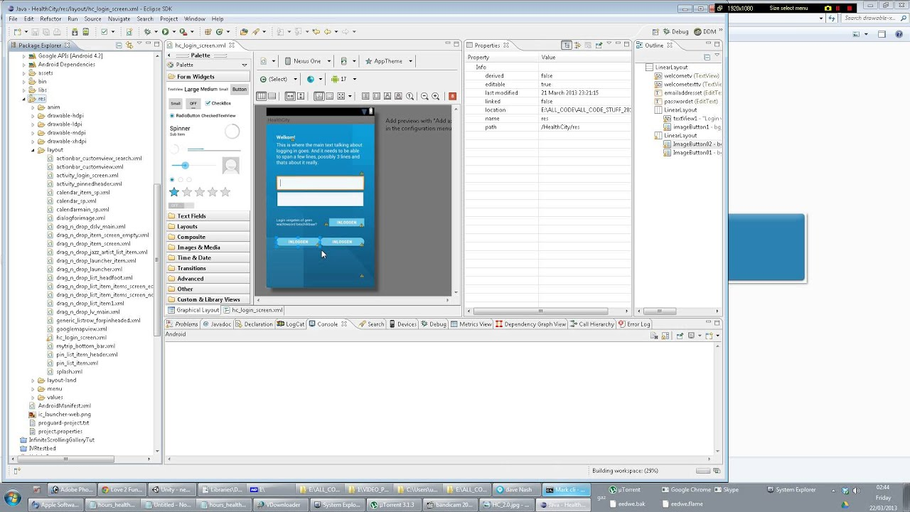 Tutorial: How to design Android UI/GUIs in Eclipse #1 - YouTube