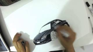Sketch Drawing - Honda Civic Cartoon