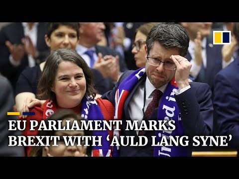 European Parliament Bids Farewell To United Kingdom With 'Auld Lang Syne'