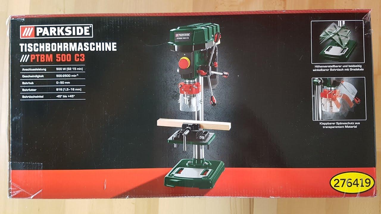 Parkside Ptbm 500 C3 Tischbohrmaschine Ständerbohrmaschine Bench Drill Unboxing 4k