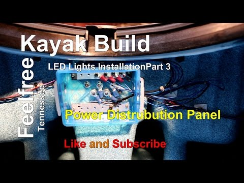 Kayak Led Light Installation Part 3, Power Distribution Box