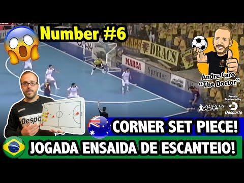 JOGADA ENSAIADA DE ESCANTEIO DE FUTSAL | FUTSAL CORNER SET PIECE #6
