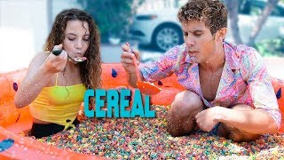 EATING A POOL OF CEREAL IN 10 MINUTES