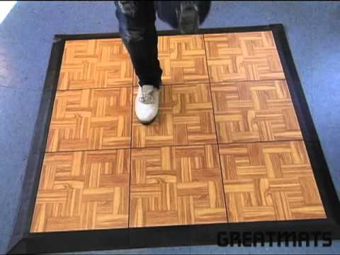 Tap Dance Floor Board Kit Of 9 Tiles   Greatmats