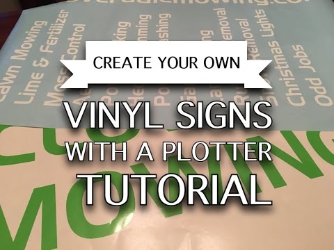 Create Your Own Vinyl Signs With A Plotter (Tutorial)