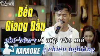 Bến Giang Đầu Karaoke Quang Lập (Tone Nam) | Nhạc Vàng Bolero Karaoke