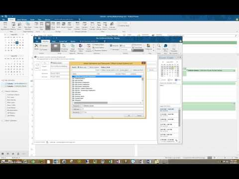 How to book meeting room in outlook for a month