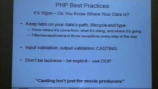 "Owasp5028 Part3 - PHUNDAMENTAL SECURITY -€"" CODING SECURE WITH PHP, with Hans Zauner."