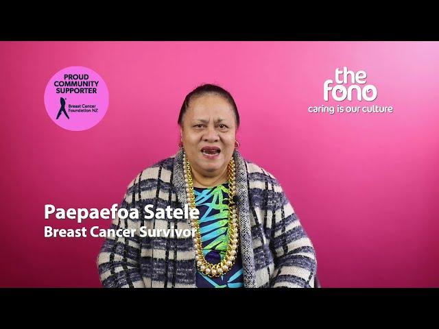 The Fono | Paepaefoa Satele | Breast Cancer Survivor story | Samoan