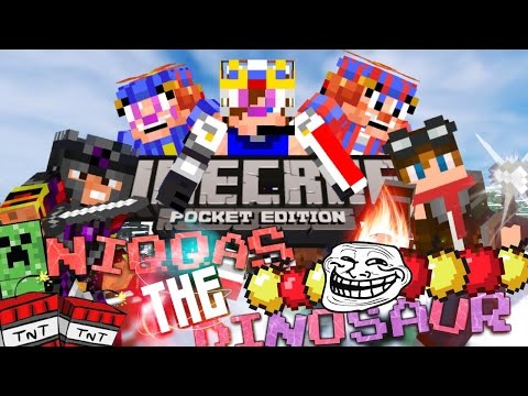 Minecraft Pocket Edition LBSG- NIQQAS THE DINOSAUR KILLER!
