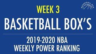 Basketball Box's 2019 2020 Nba Week 3 Power Rankings (november 4   November 10)