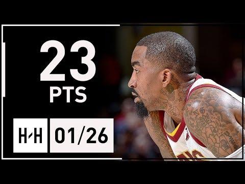 JR Smith Full Highlights Cavaliers vs Pacers (2018.01.26) - 23 Pts, 7 Threes   2017-18 Season