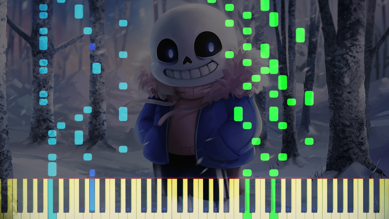[VINTAGE PIANO] Undertale - Megalovania (Piano) (Synthesia - 1080p 60fps)