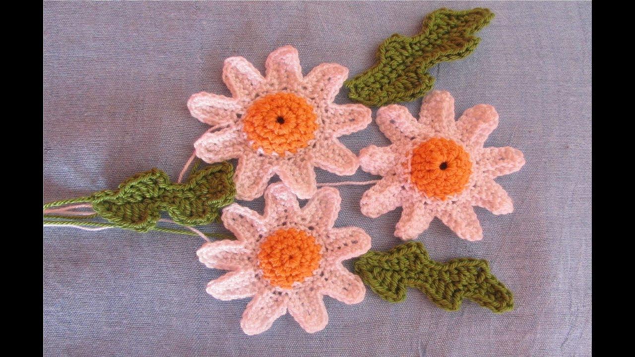 Flori și Frunze Croșetate Youtube
