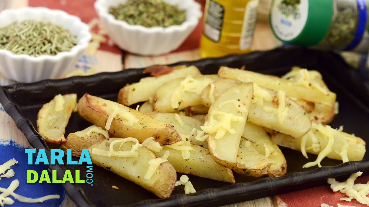 Baked Potato Wedges by Tarla Dalal - Tarla Dalal